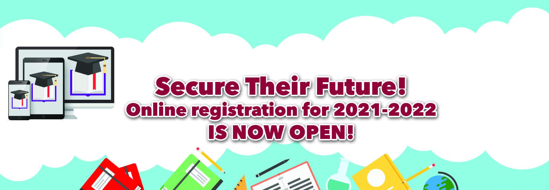online registration ad