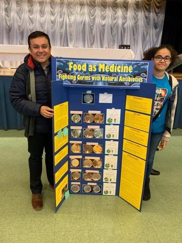 ems science teachr mr. figueroa and the female student who researched food as medicine