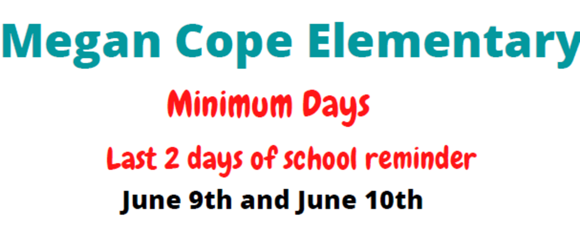 Minimum Days on June 9th and 10th