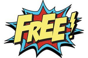 Graphic image saying FREE.