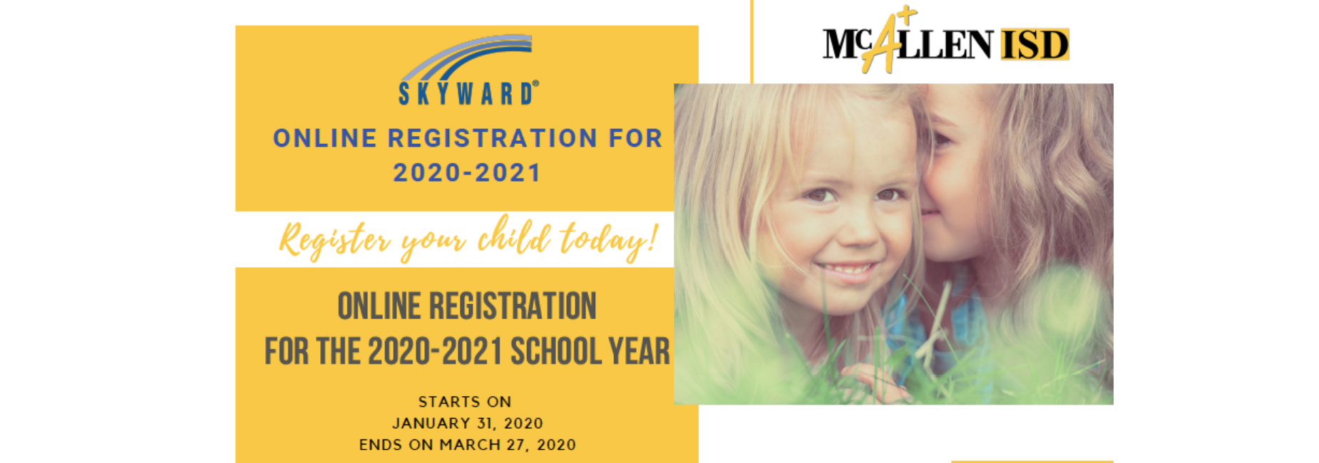 Online Registration is open through March 27, 2020.