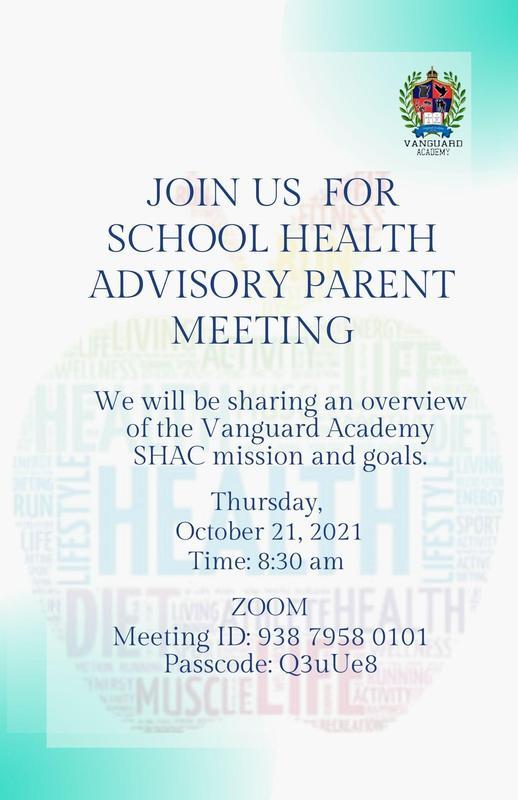Join us for a Health Advisory Committee (SHAC) virtual meeting / Únase a nosotros para una reunión virtual del Comité Asesor de Salud (SHAC) Featured Photo