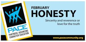 February PACE Character Trait is Honesty