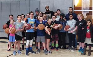 Dragon basketball team with Von Miller