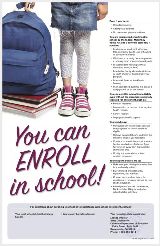 You Can ENROLL in School! / ¡Tú puedes INSCRIBIRTE en la escuela! Featured Photo