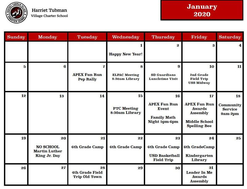 January 2020 Calendar Featured Photo