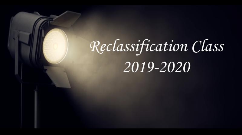 Reclassification 2019-2020
