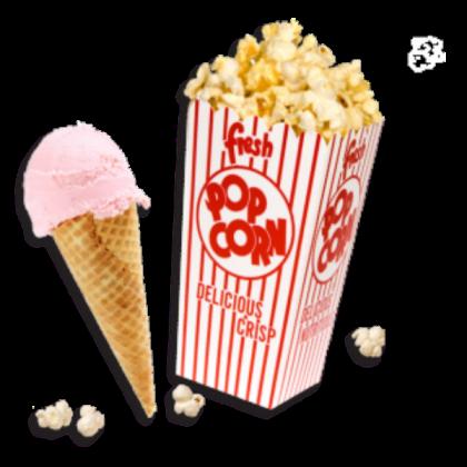 popcorn and ice cream