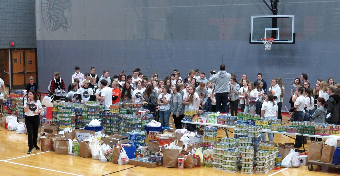 TKHS  students donated more than 10,600 pounds to win the Fox 17 Food Fight Challenge.