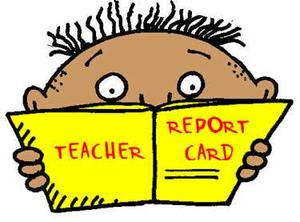 Student with report card