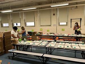 Teachers prepare Casas Welcome Packs