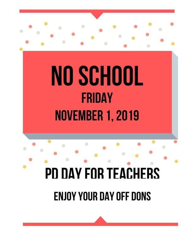 No School 11-1-19 Featured Photo