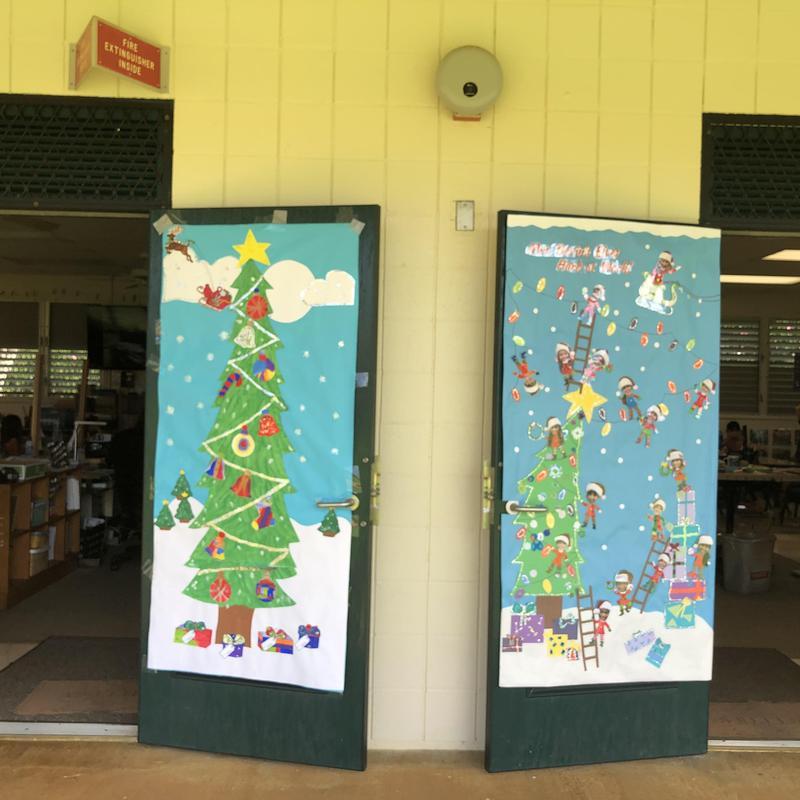 F Wing  Holiday Door Designs