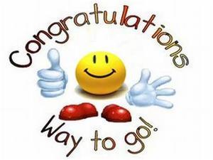 Congratulations - Way to go
