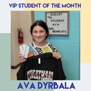 August VIP Student!
