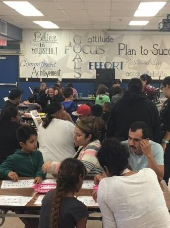 Lots of Parents and Students in attendance at Math Night