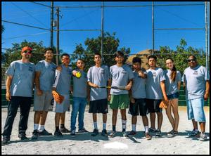 Boynton High School students and staff at softball tournament