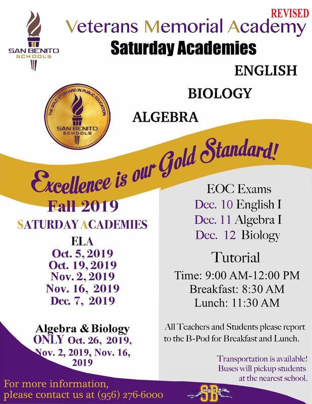 Saturday Academies