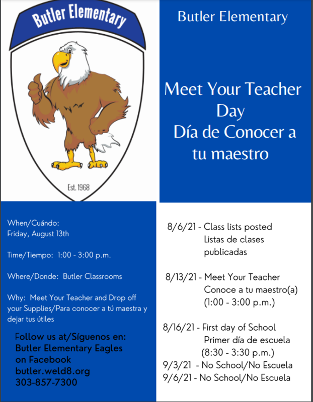 Important Back to School Information