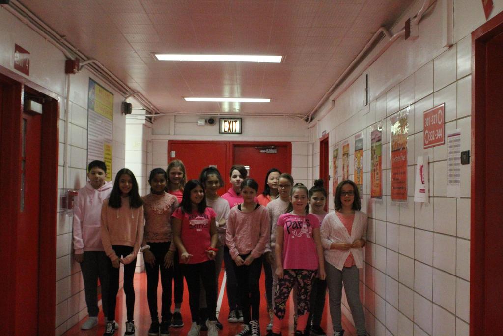 Sixth Grade Students wear Pink!