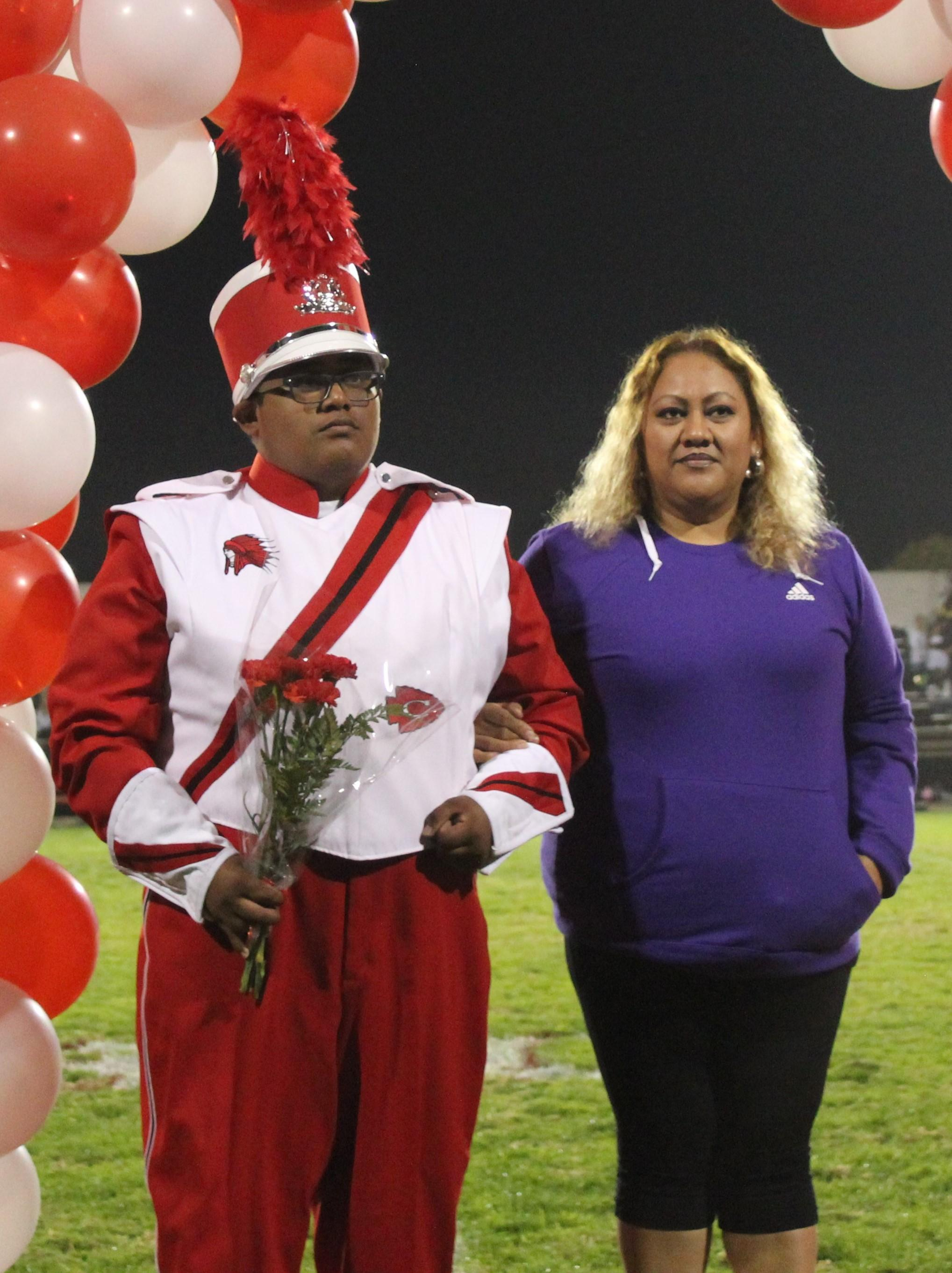 Anthony Lascarez and his supporters at Senior Night.
