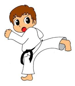 Child doing karate