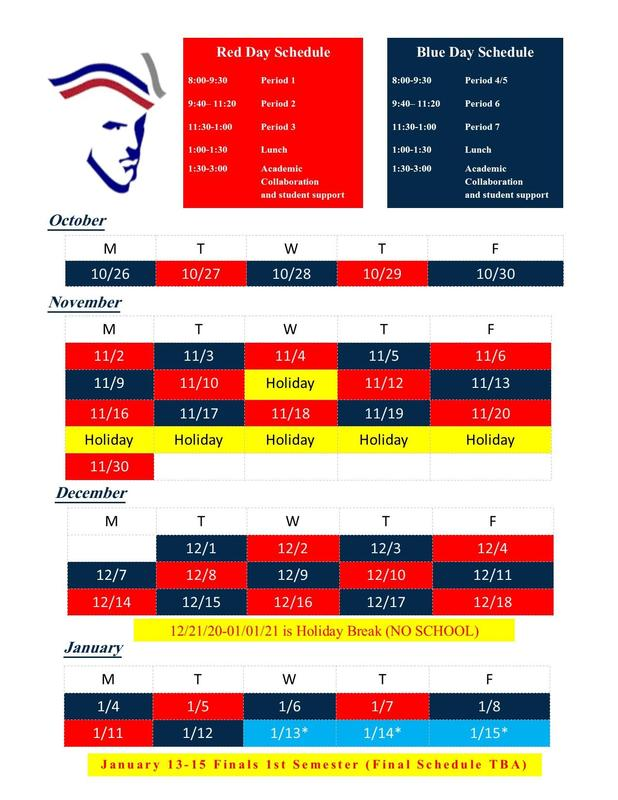 UPDATED ******Red and Blue Schedule******* Thumbnail Image