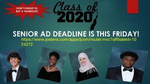 Senior Ad Deadline is this Friday