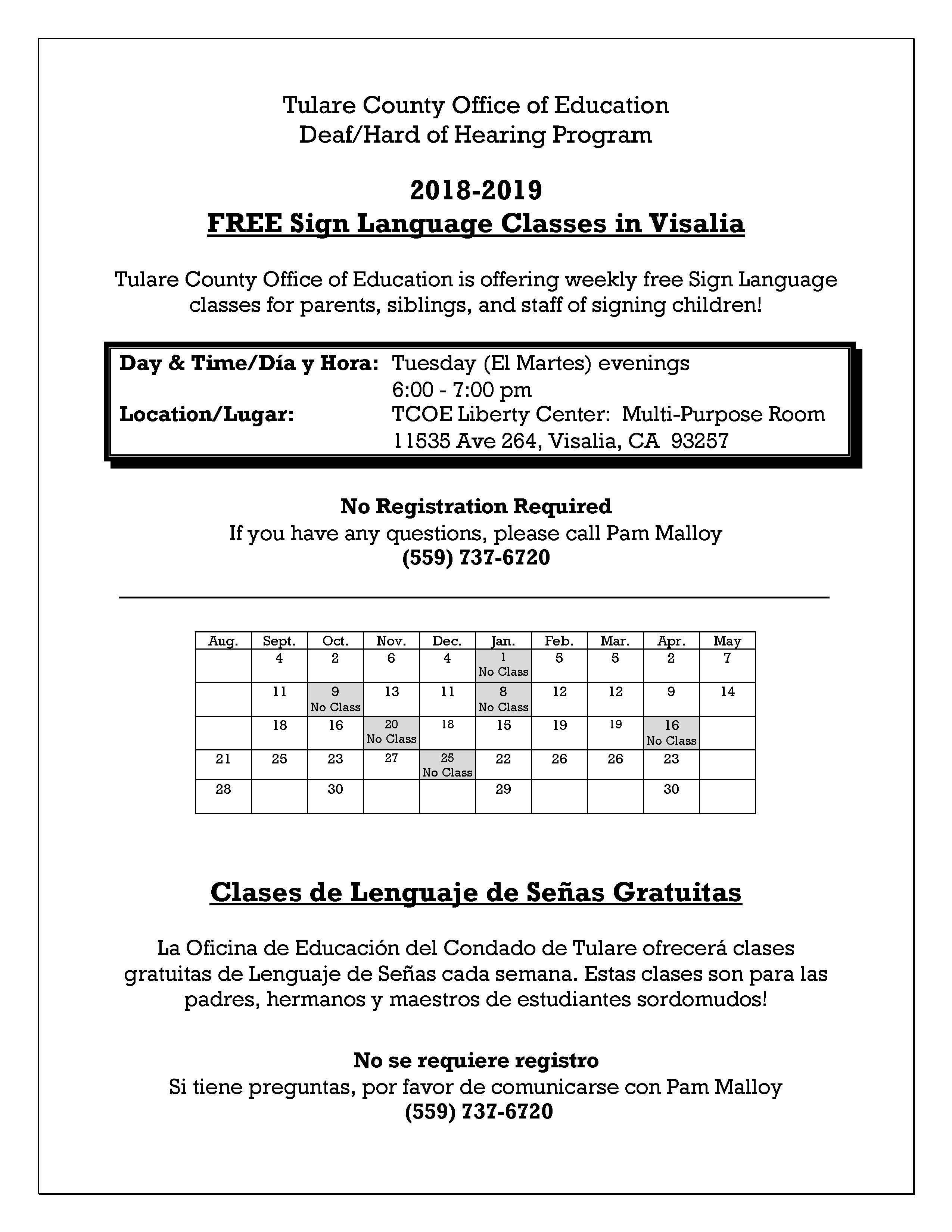 Visalia Sign Language Classes