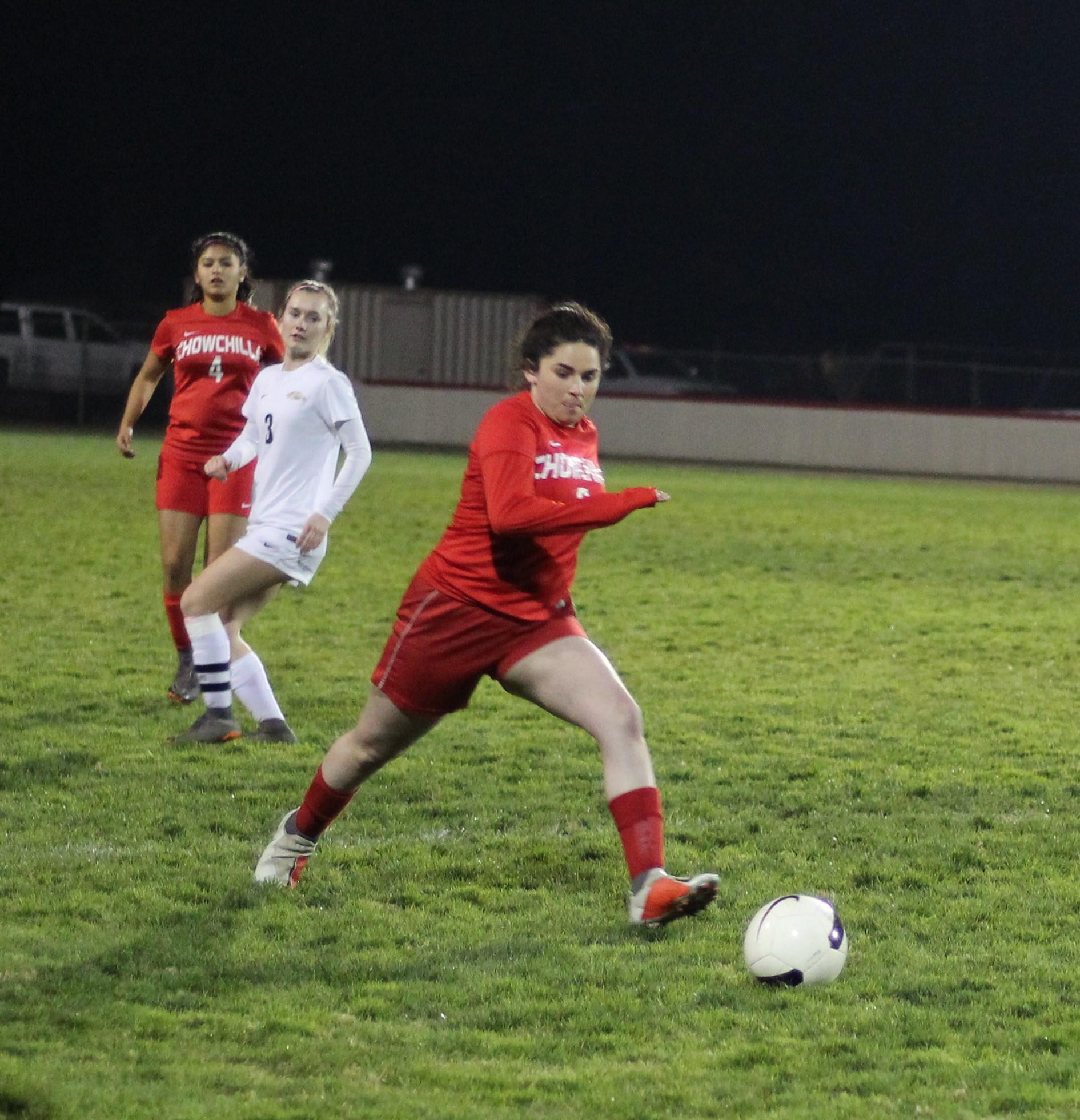 Girl's Playing Soccer vs Liberty