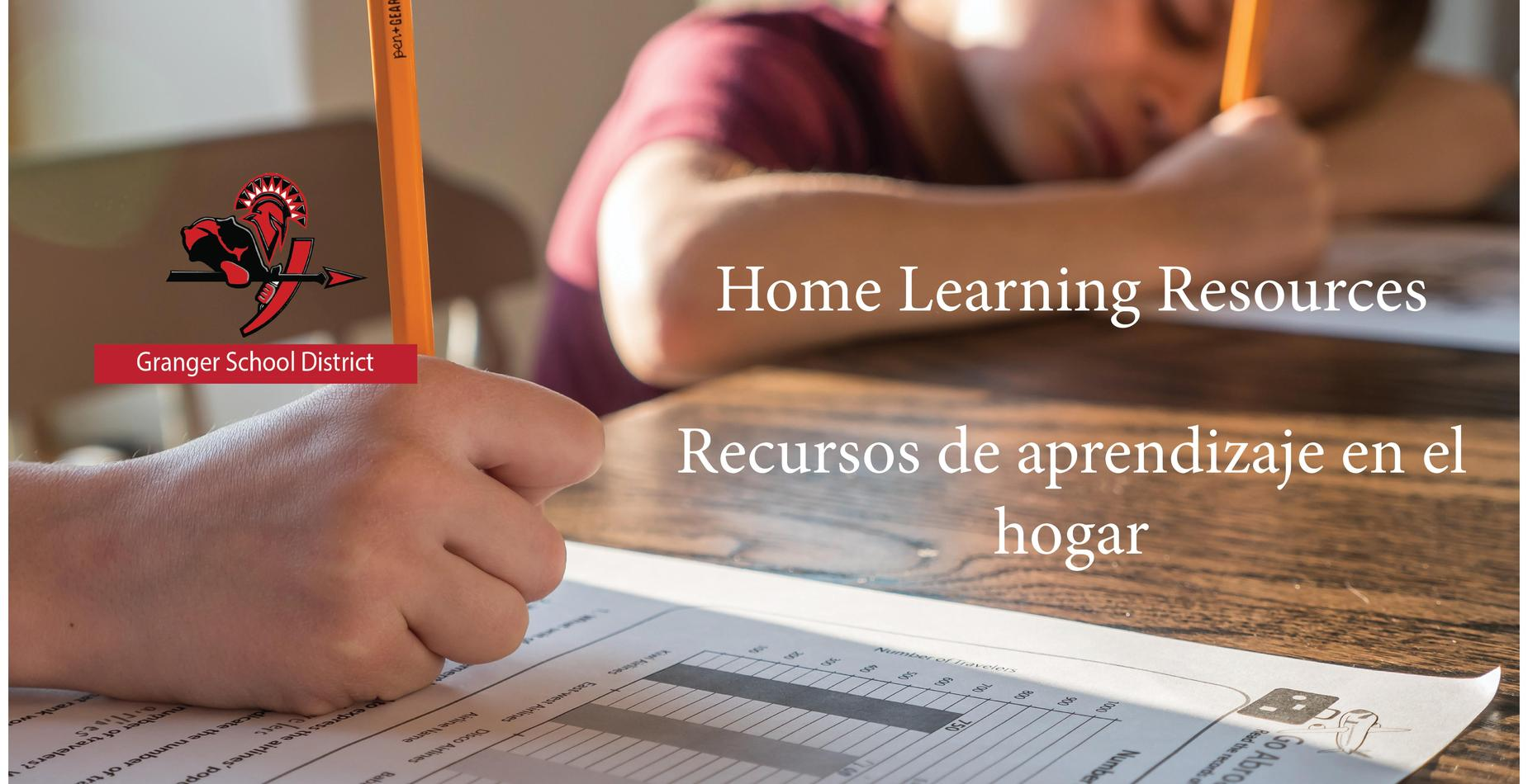photo of information on learning resources at home