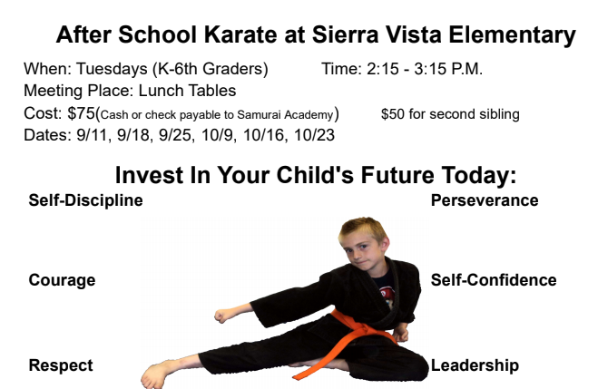 Karate Tuesdays Fall 2018