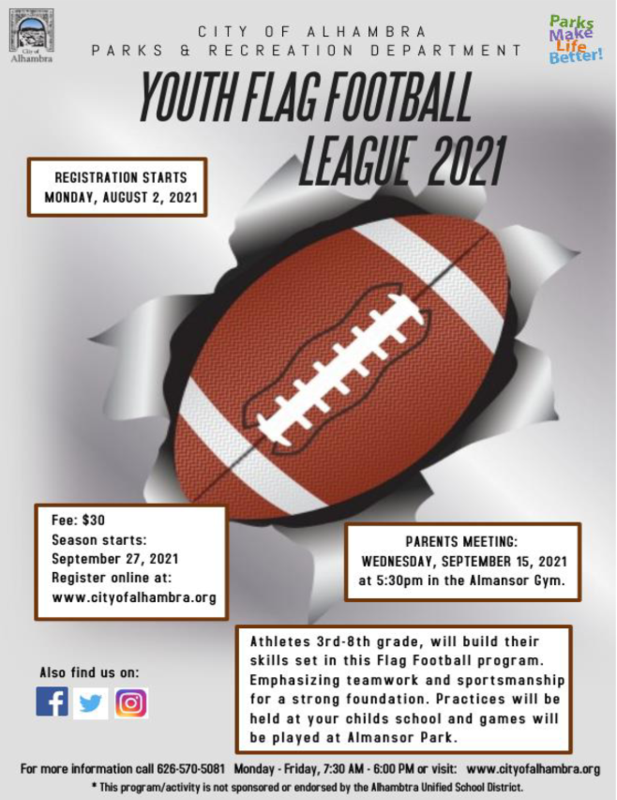 SIGN UPS FOR CHEERLEADING AND FLAG FOOTBALL ARE UNDERWAY! Featured Photo