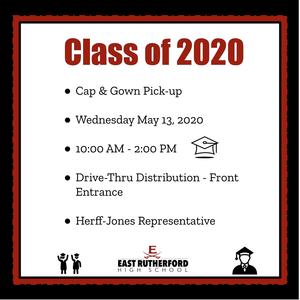 ERHS Graduation Cap & Gown Pick-up