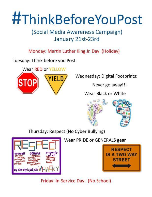 Social Media Awareness - Next Week! Thumbnail Image