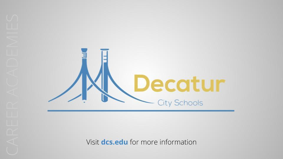 Preview of the Career Academies of Decatur! Image