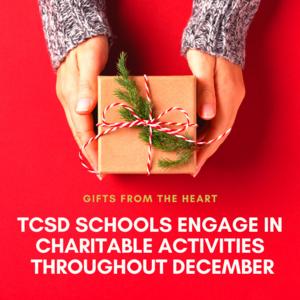 TCSD Charitable Activities in December graphic