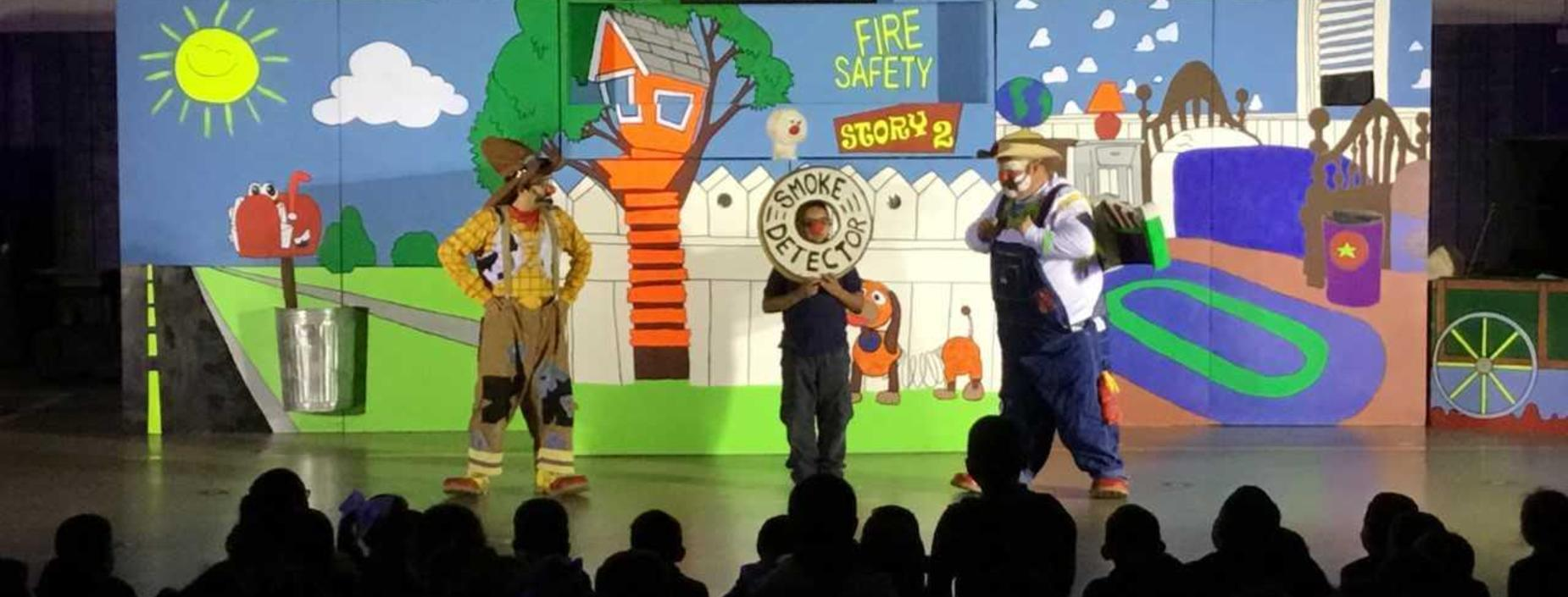 Image of students participating in Fire Prevention Presentation