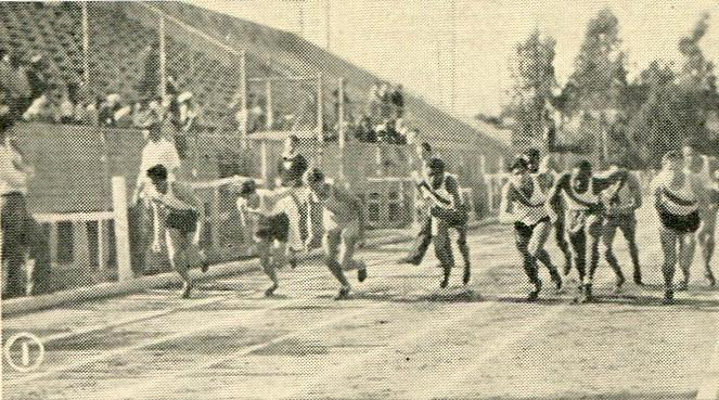 Start of the 440 in the Jefferson Meet, 1932
