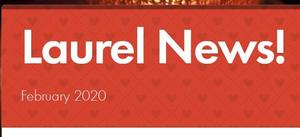 Image of the header of the Laurel February 2020 newsletter