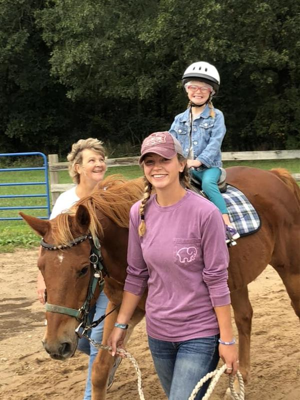 TK special needs students attend therapeutic horse riding sessions in the spring.