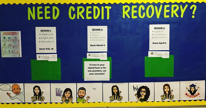 Credit Recovery Bulletin Board