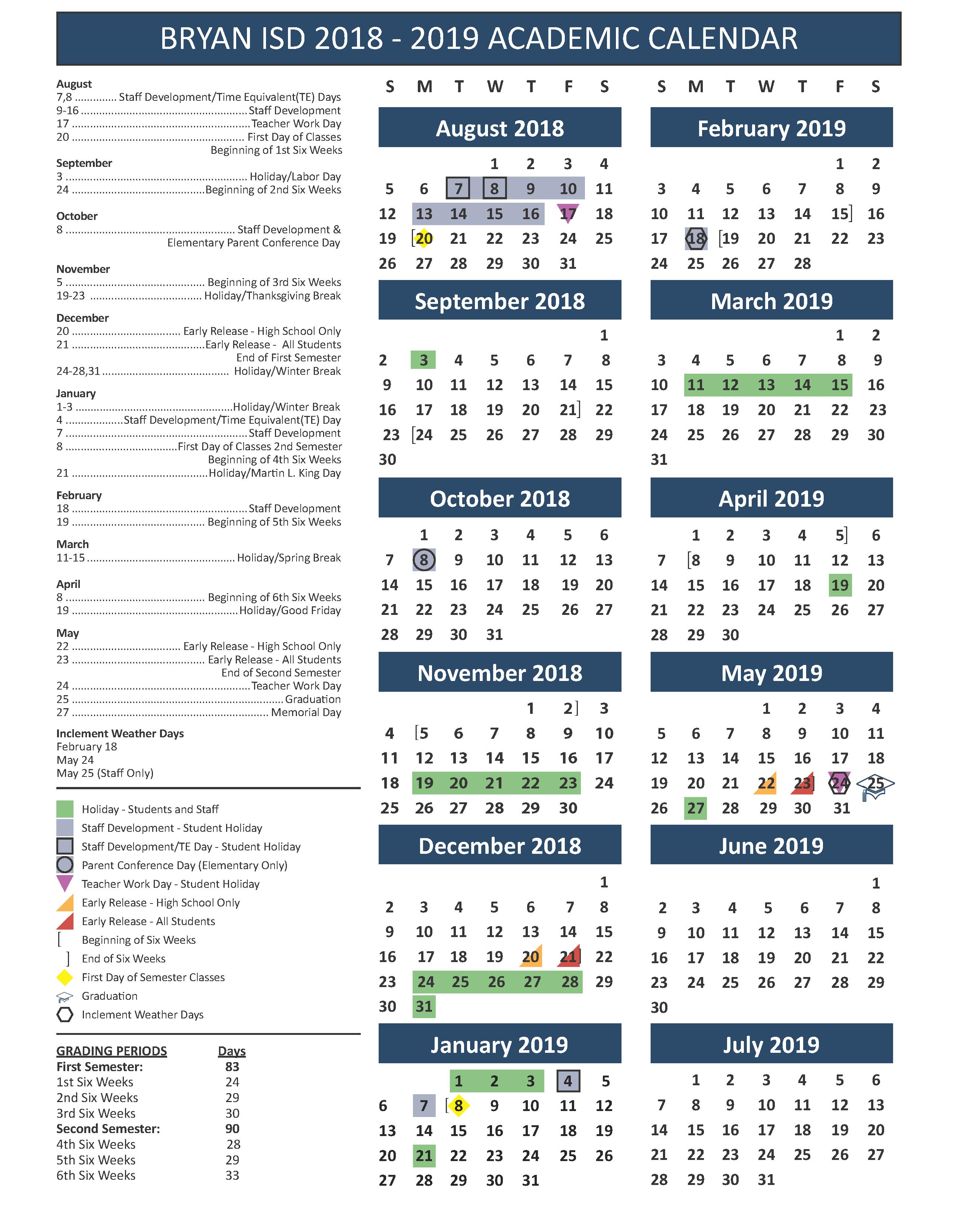 School Calendar Testing Fine Arts Athletics Events