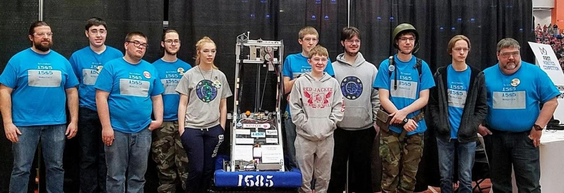 Robotics Team 2017-2018 Team Picture at RIT Competition March 2018