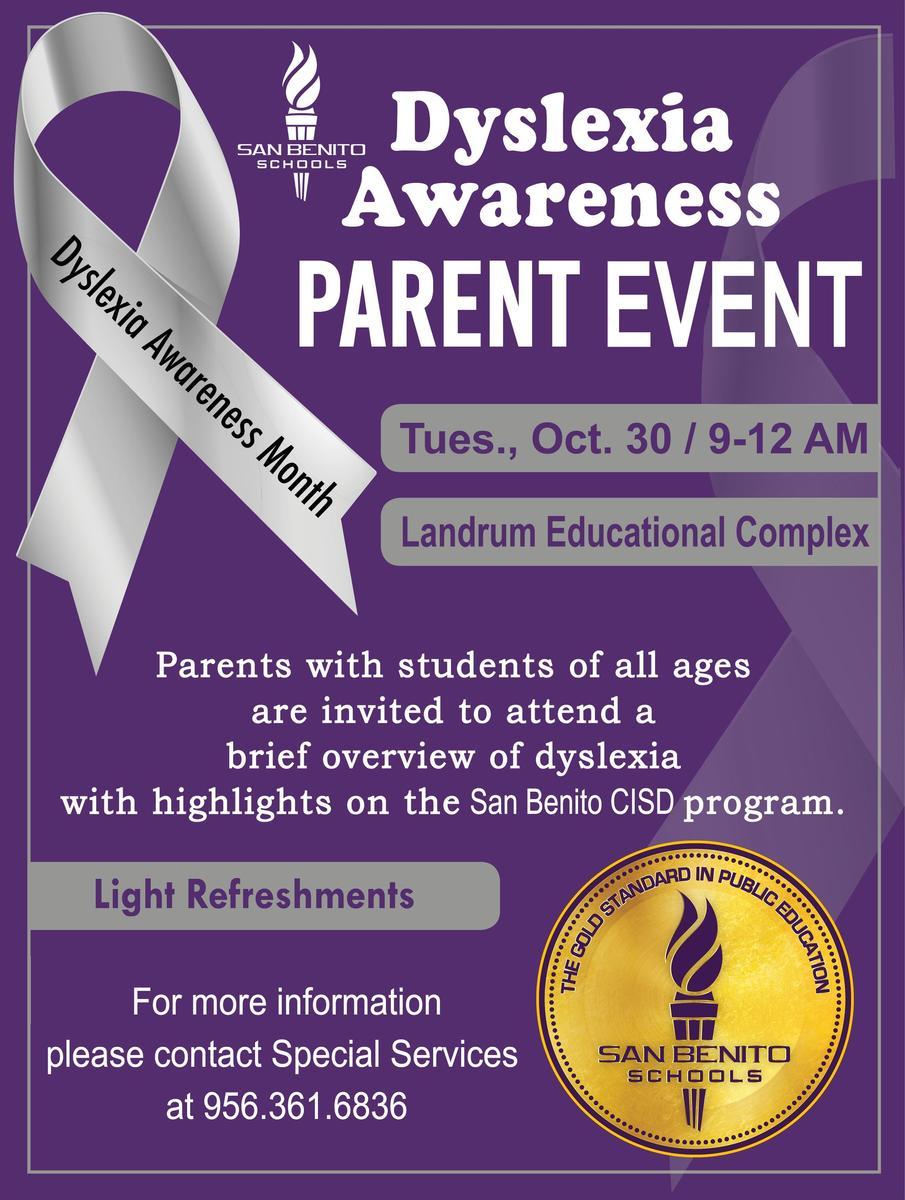 Dyslexia Awareness Flyer