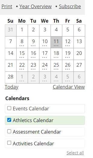 Team Practice Schedule
