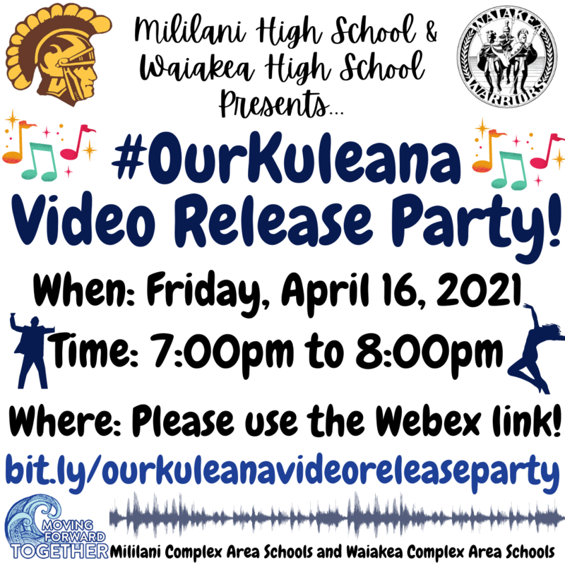 #OurKuleana Release Party Flyer