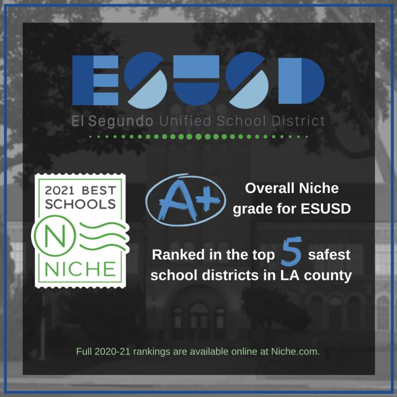 ESUSD Earns Impressive Rankings on Niche.com 2020-21 Best School District List Featured Photo