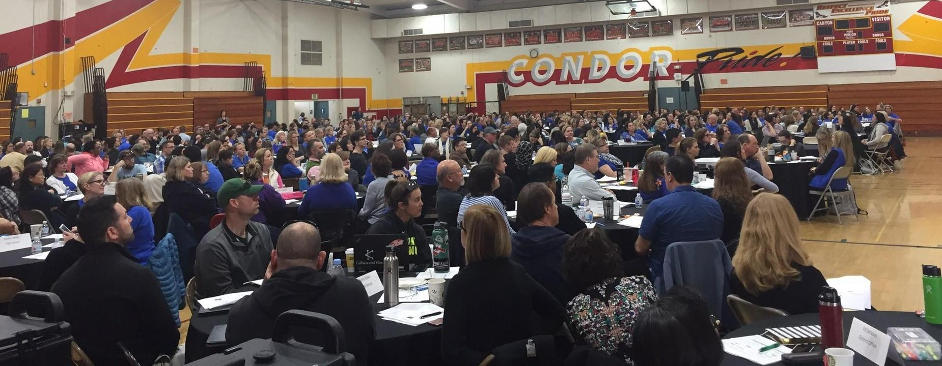 CVUSD Staff engaged in professional development training