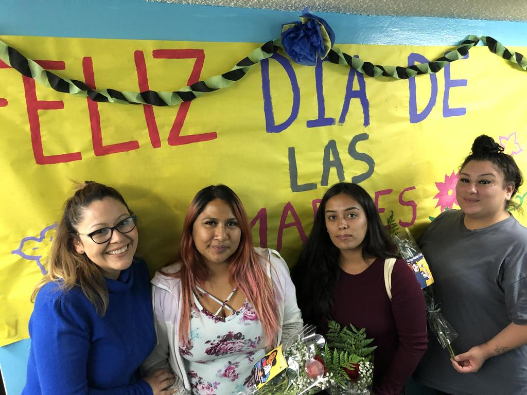 LA CAUSA students and staff on Mother's Day